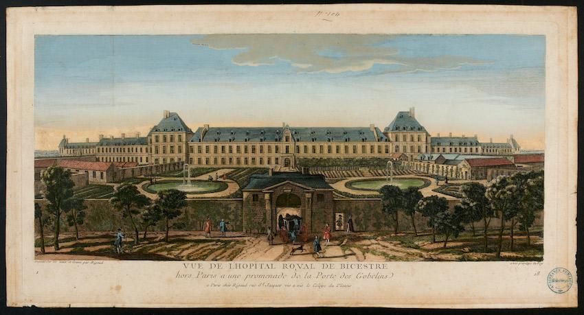 gravure de l'hôpital Royal de Bicêtre